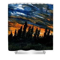 Windstorm At Dusk Shower Curtain