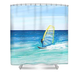 Windsurf Shower Curtain