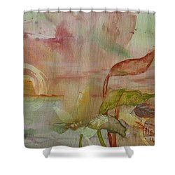 Shower Curtain featuring the painting Windswept by Robin Maria Pedrero