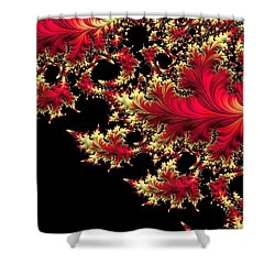 Shower Curtain featuring the digital art Windswept by Susan Maxwell Schmidt
