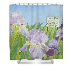 Shower Curtain featuring the painting Windy Brae Gardens by Arlene Crafton