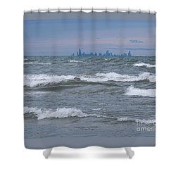 Windy City Skyline Shower Curtain