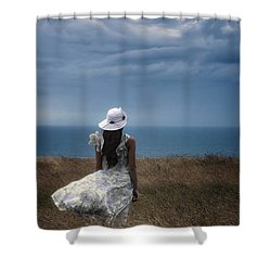 Windy Day Shower Curtain by Joana Kruse