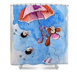Windy Days Shower Curtain by Lucia Stewart