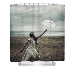 Windy Shower Curtain by Joana Kruse