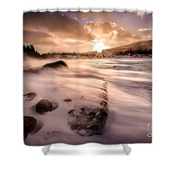 Windy Morning Shower Curtain by Steven Reed