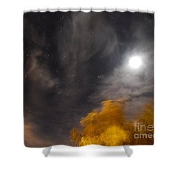 Shower Curtain featuring the photograph Windy Night by Angela J Wright