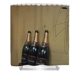 Shower Curtain featuring the photograph Wine And A Man by Rachel Mirror