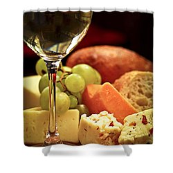 Wine And Cheese Shower Curtain