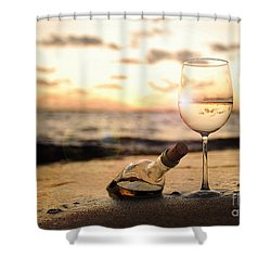 Wine And Sunset Shower Curtain