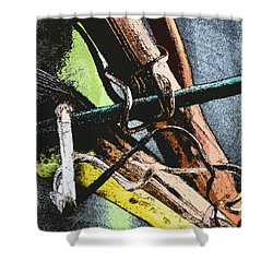Wine Branches Shower Curtain by Tine Nordbred