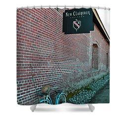Wine Break Shower Curtain by Holly Blunkall