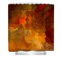 Wine By Candlelight Shower Curtain by Lisa Kaiser