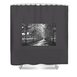 Wine Country Napa Black And White Shower Curtain