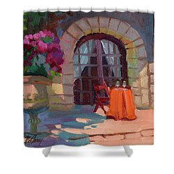 Wine For Two Shower Curtain by Diane McClary