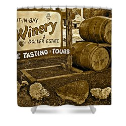 Wine Is Fine Shower Curtain by Frozen in Time Fine Art Photography