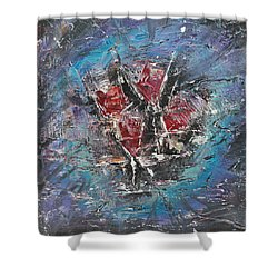 Shower Curtain featuring the painting Wine-o'clock by Lucy Matta