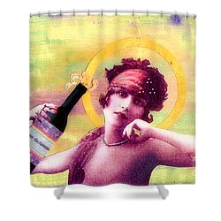 Shower Curtain featuring the painting Wine Of Love by Desiree Paquette