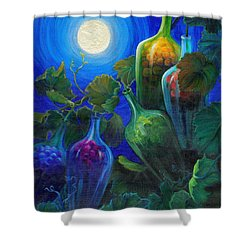 Wine On The Vine Shower Curtain by Sandi Whetzel