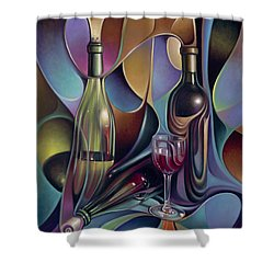 Wine Spirits Shower Curtain