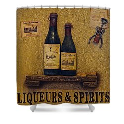 Wine Time Shower Curtain by Frozen in Time Fine Art Photography