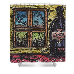 Wine With A View Shower Curtain