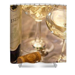 Wine With Friends Shower Curtain