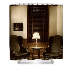 Wingbacks Shower Curtain by Margie Hurwich