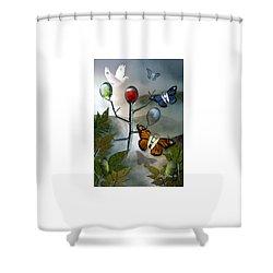 Winged Metamorphose Shower Curtain by Billie Jo Ellis