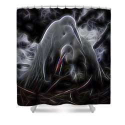 Winged Romance 1 Shower Curtain