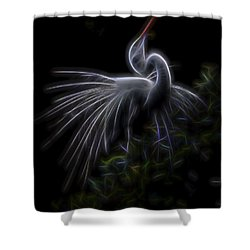 Winged Romance 2 Shower Curtain by William Horden
