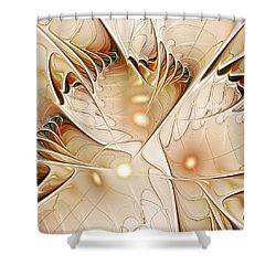 Wings Shower Curtain by Anastasiya Malakhova