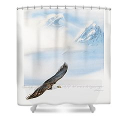 Wings As Eagles Shower Curtain by Cliff Hawley