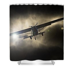 Shower Curtain featuring the photograph Wings by Paul Job