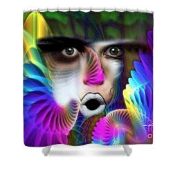 Shower Curtain featuring the painting Wings by Rafael Salazar