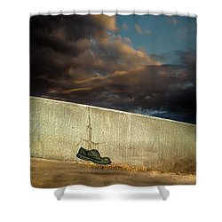 Wingtips  Shower Curtain by Bob Orsillo