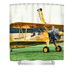 Wingwalking Shower Curtain