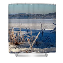 Winnisquam Winter Shower Curtain
