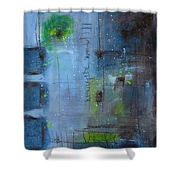 Shower Curtain featuring the painting Winter 2 by Nicole Nadeau