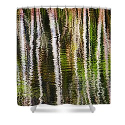 Winter Abstract Shower Curtain by Carolyn Marshall