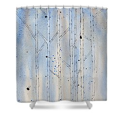 Shower Curtain featuring the painting Winter Abstract by Rebecca Davis