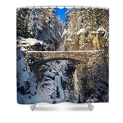 Winter At Christine Falls Shower Curtain by Inge Johnsson