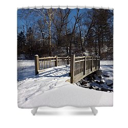Winter At Creekside Shower Curtain