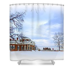 Winter At Monticello Shower Curtain