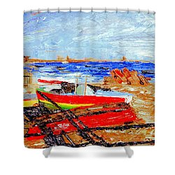 Winter At Provincetown Shower Curtain
