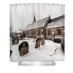 Winter At St Paul Shower Curtain by Adrian Evans