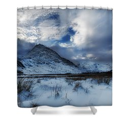 Winter At Tryfan Shower Curtain