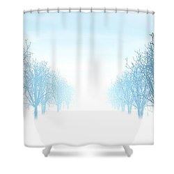 Winter Avenue Shower Curtain