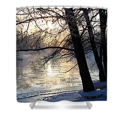 Winter Ballet Shower Curtain by Hanne Lore Koehler
