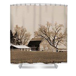 Shower Curtain featuring the digital art Winter Barren by Kirt Tisdale